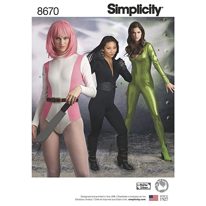 Simplicity Patterns US8670H5 Costumes, H5 (6-8-10-12-14)