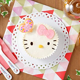 ハローキティ(サンリオ公認)苺のふんわり クリームケーキ 誕生日ケーキ&ろうそくセット 北国からの贈り物