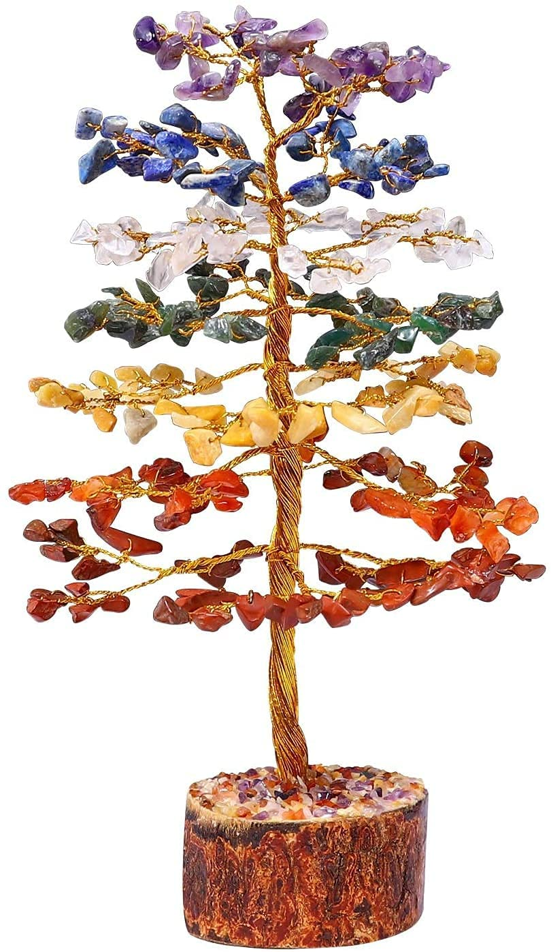 Crocon Gemstone Money Tree shipfree Feng Stone supreme Shui Balanci Chakra Bonsai