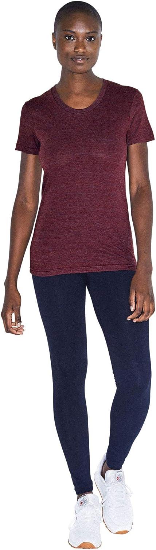 American Apparel Women's Tri-Blend Slim Fit Crewneck Short Sleeve Track T-Shirt