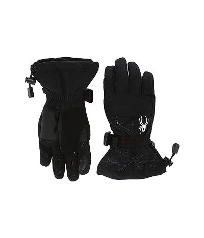 Spyder Kids Overweb (Little Kids/Big Kids) (Black) Extreme Cold Weather Gloves