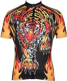 QinYing Mens Tiger Patterns King's Breathable Biking Cycling Jersey Top