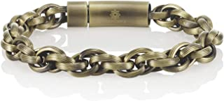 Namana Stainless Steel Chain Bracelet for Men. Interwoven Links Bracelet in a Choice of 2 Colors. Available in 2 Sizes. Me...