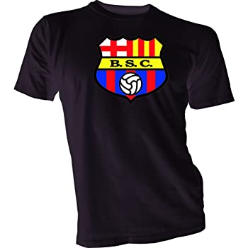 Amazon Com Gildan Barcelona Sporting Club Guayaquil Ecuador Futbol Soccer T Shirt Small Black Clothing