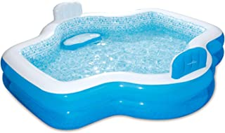 Summer Waves Inflatable Family Pool with Mosaic Interior Print - 18