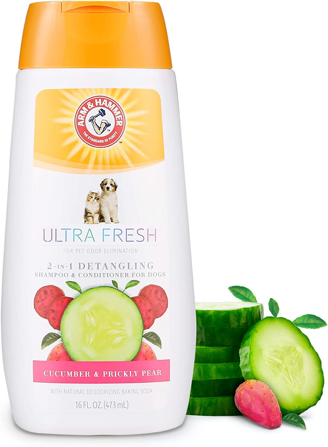 Arm & Hammer for Pets Ultra Fresh Shampoos, Conditioners, and Sprays for Dogs | Arm & Hammer Baking Soda Neutralizes Bad Odors for an Advanced Clean | Great Smelling Dog Shampoo