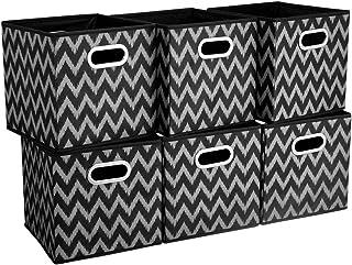 HSDT Boîte De Rangement, Taupe | Vague, Pliable, Tissu, 33 x 33 x 33 cm, Avec 2 Poignées En Métal, Compatible Avec Les Org...