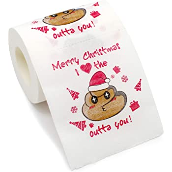 Bravo Sport Merry Christmas Toilet Paper, Highly Collectible Novelty Toilet Paper Funny Gag Gift for Christmas Stocking Stuffers Party Favors