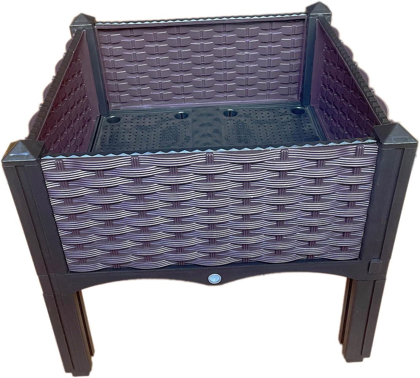 Plastic Raised Garden Bed, Planter Kit (Set of 4)