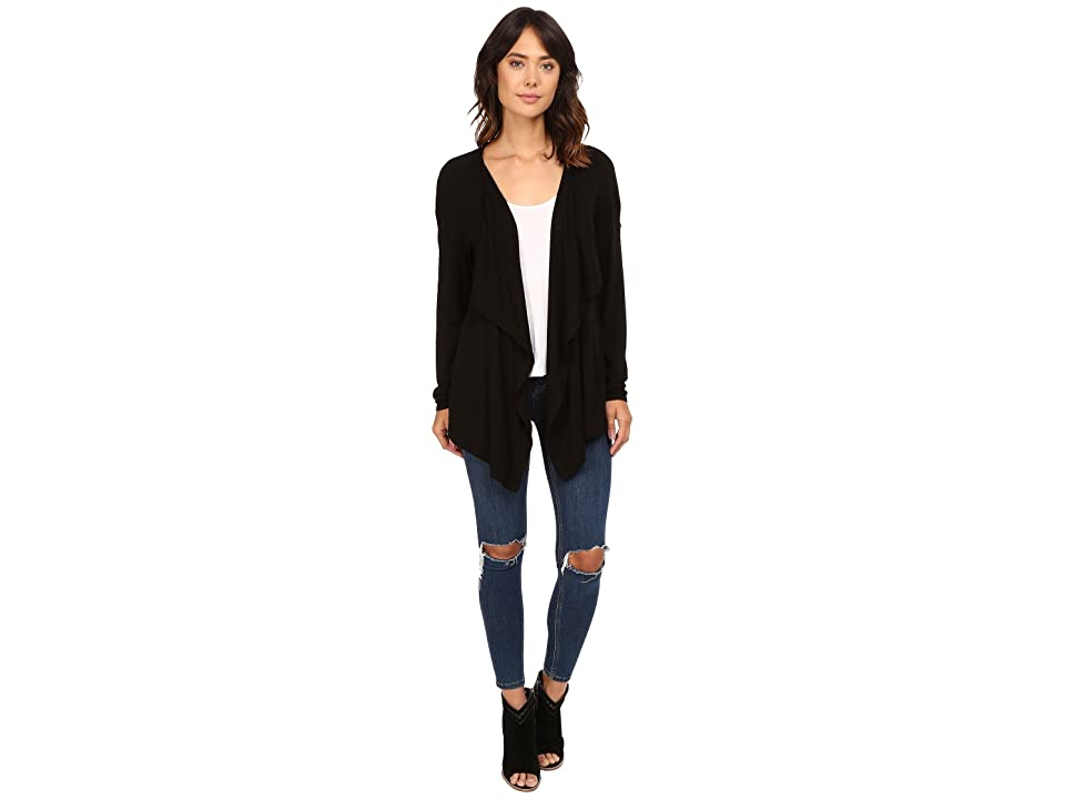 Three Dots Luz Drapey Cardigan (Black) Women