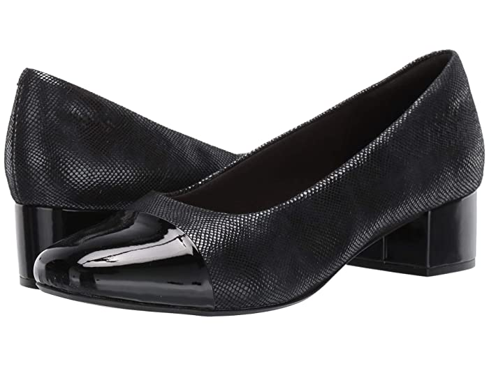 Clarks  Chartli Diva (Black Interest Suede) Womens  Shoes