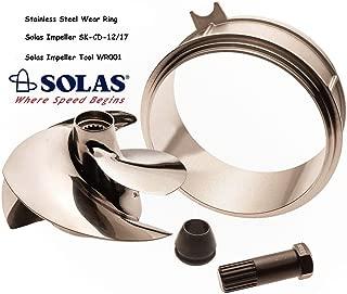 Solas Sea Doo Spark Impeller SK-CD-12/17 w/ Stainless Wear Ring & Impeller Tool