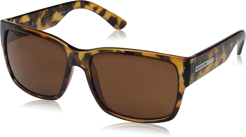 Hoven Mosteez 512662 Polarized Rectangular Sunglasses,Animal Tortoise,62 mm