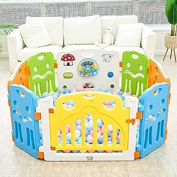 Paquet Additionale Baby Vivo Parc B/éb/é Barri/ère Securit/è Paquet principal avec Porte Panel Jeu Espace Jeu Chambre