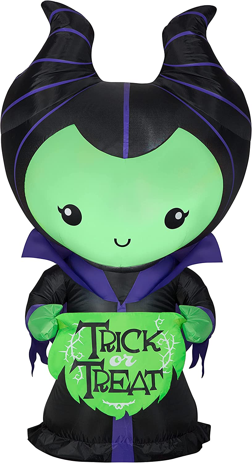 Gemmy 5' Inflatable Halloween Max 69% OFF Limited time for free shipping Disney Maleficent Villans Indoor O