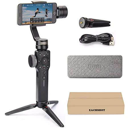 Zhiyun Smooth 4 3-Axis Handheld Gimbal Stabilizer with Grip Tripod for iPhone 12 11 Pro Xs Max Xr X 8 Plus 7 6 SE Android Cell Phone Smartphone YouTube Vlog Live Video Kit