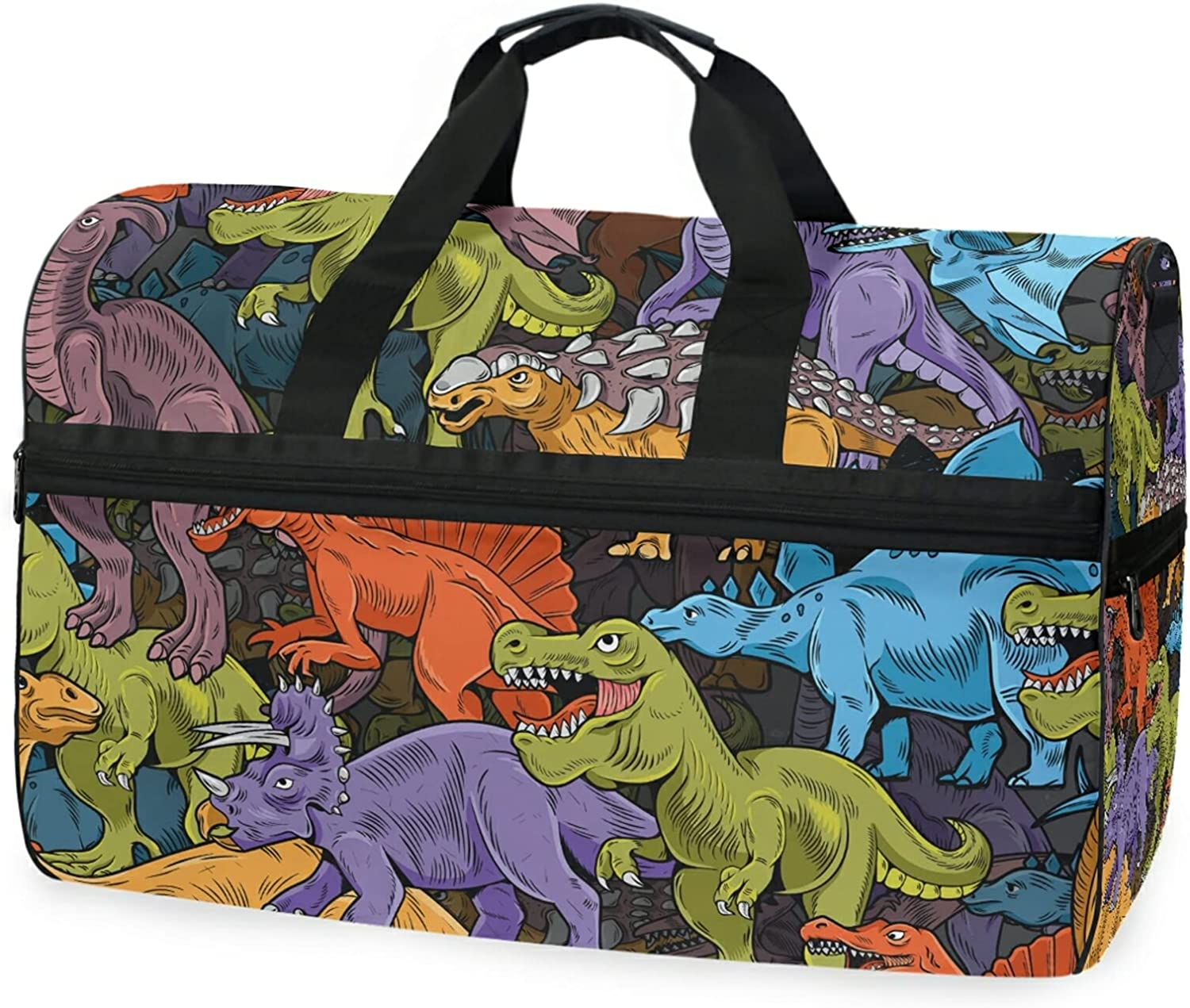Camouflage Dinosaurs Travel Duffel Bag Gym Luggage Sports Wi Max 53% OFF Max 59% OFF