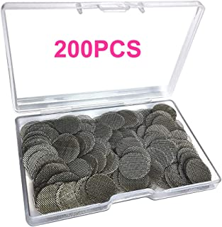Gebildet 200pcs Stainless Steel Pipe Filters, 15mm/0.59 Inch Smoking Screens Pipe, Silver Mesh Screens Gauzes Filter with Storage Box