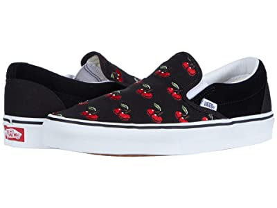 Vans Classic Slip-Ontm (Black/Cherry) Skate Shoes