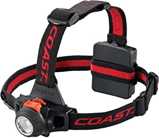 COAST HL27 360 Lumen Pure Beam Focusing LED Headlamp with Twist Focus and Variable Light Control Wheel