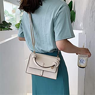 ZZZ Shoulder Texture Messenger Bag Fashion Chic Personality Portable Wild Lady Korean Version Of The Single fashion (Color : Beige)