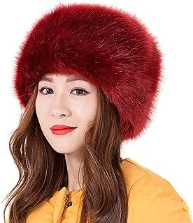 Women Ladies Girls Cossack Russian Style Faux Fur Hat Winter Warm Cap