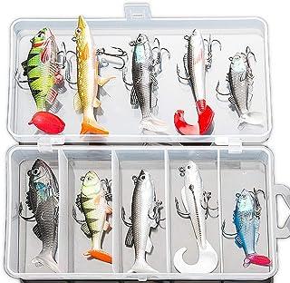 Soft Fishing Lures Kit, Fishing Lures Baits Tackle Set...
