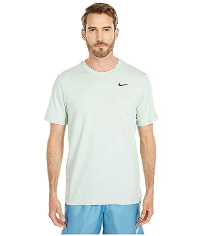 Nike Dry Tee Dri-FITtm Cotton Crew Solid (Pistachio Frost/Black) Men
