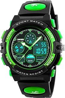 Kid Watch 50M Waterproof Sport LED Alarm Stopwatch Digital Child Quartz Wristwatch for Boy Girl