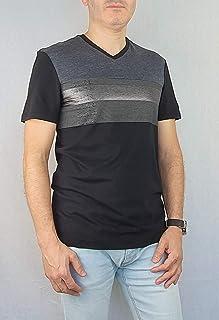 Calvin Klein V-Neck T-Shirt for Men Black Combo