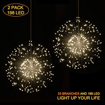 2 Pack HENSUN 8 Modes Dimmable Decorative Wire Lights