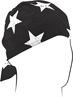 ZANheadgear Flydanna Bandanna, 100% Cotton, Black and White Vintage American Flag