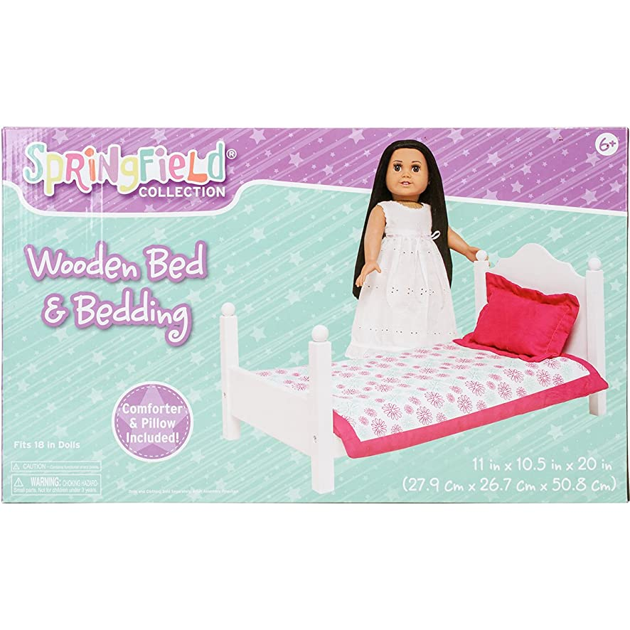 Springfield 18 Inch Doll Accessories, Bed And Bedding