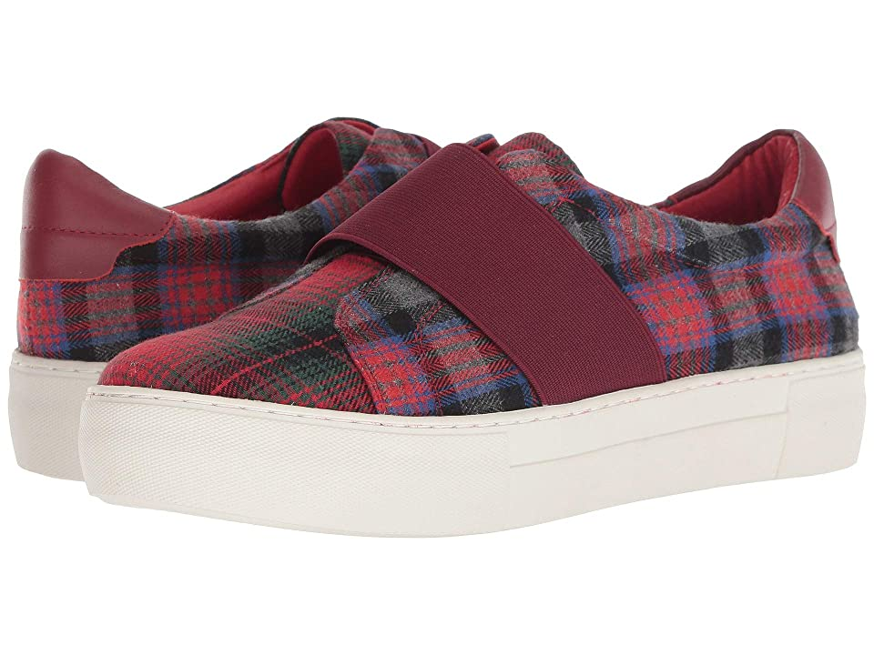 J/Slides Adore (Red Plaid Fabric) Women