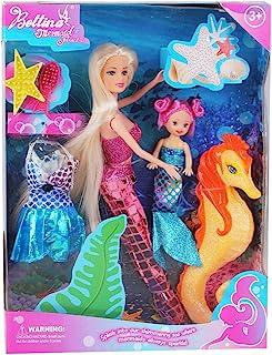Bettina Mermaid Princess Doll with Little Mermaid &...