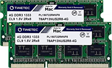 Sponsored Ad - Timetec Hynix IC Low Density 8GB KIT(2x4GB) Compatible for Apple DDR3 1333MHz PC3-10600 for MacBook Pro (Ea...