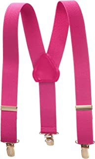 Hold'Em Suspender for Kids Boy USA Made Polished Clip Genuine Leather Crosspatch, Perfect for Tuxedo