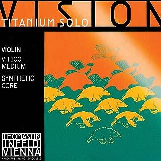 Thomastik Vision Titanium Solo 4/4 Violin String Set - Medium Gauge