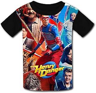 Yesbnow Camisa Henry Danger Impresa en 3D Camisetas de Manga Corta Camiseta para jóvenes y niños y niños