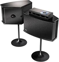 Bose 901 Series Speaker System Bundle With Equalizer and Tulip Stands (Black)