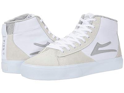 Lakai Newport Hi (White/Grey Suede) Men