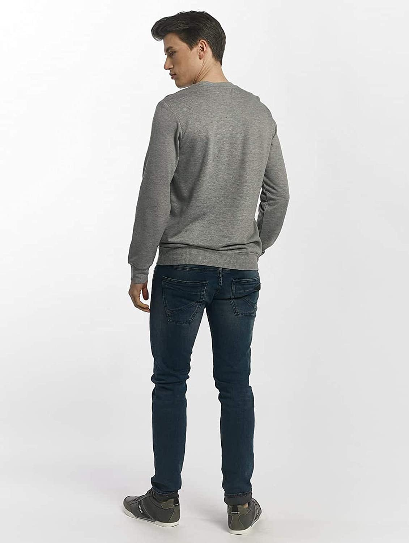 Mavi Printed Sweatshirt T-Shirt Homme Gris (Grey Melange 25702)