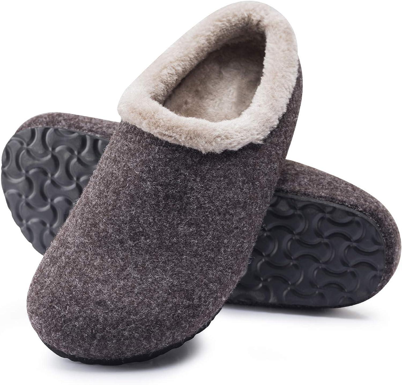 Mishansha Pantofole Uomo Ciabatte Invernali Memory Foam Pantofole Calde Gr.39-46