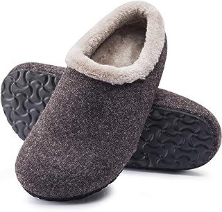FITORY Pantofole da Uomo in Feltro e Sughero Calde Pantofole Invernali per la casa Taglia 41-46 EU