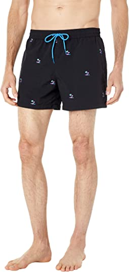 Shorts Palm Tree Embroidered