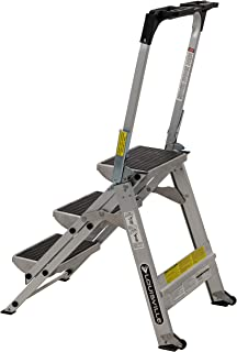 Louisville ladder 3-Foot Step Stool, 300-Pound Capacity L-2011-03 Stocking stepstool, 3-feet, Silver