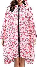 StarneA Manteau de pluie imperméable respirant avec capuche unisexe pour adulte Fermeture éclair, Rose, taille unique