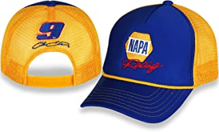 NASCAR NAPA Racing Chase Elliott Adult Blue and Yellow Rope hat/Cap with Adjustable Closure