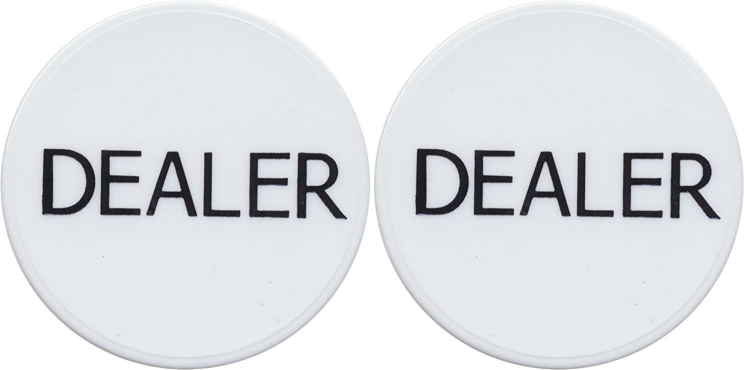 2 White Dealer Buttons Casino Holdem Poker Fixed price At the price of surprise for sale Texas