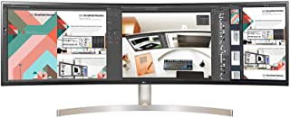 LG 49WL95C-W 49-Inch Curved 32: 9 Ultrawide Dqhd IPS with HDR10 and USB Type-C,49 Inch Curved - 32:9 DQHD Resolution